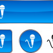 Vector de stock : Mic button set.