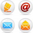 Mail Icons. — Stock vektor