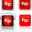 FTP  icons. — Stock Vector