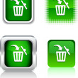 Stock Vector: Delete icons.
