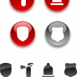 Safety icons. — Stock Vector