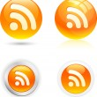 Rss icons. — Vector de stock #5316757