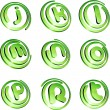 Green vibrant logo set. - Stock Vector