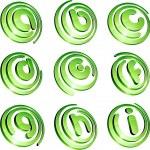Green vibrant logo set. — Stock Vector