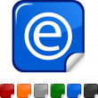 Enternet  icon. — Stockvectorbeeld