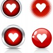 Love buttons. — Stock Vector