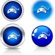 Stock Vector: Gamepad buttons.