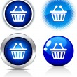 Shopping buttons. — Stock Vector