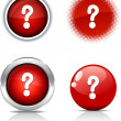 Question buttons. — Stock Vector