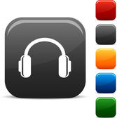 Headphones icons. — Vector de stock