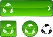 Recycle button set. — Stock Vector