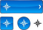 Compass button set. — Stock Vector