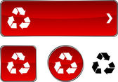 Recycle button set. — Vecteur