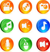 Media Icons. — Stock Vector