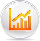Graph ball. — Stock Vector