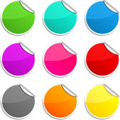 Round stickers. — Stock Vector