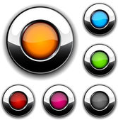 Botones brillantes. — Vector de stock