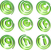 Green vibrant logo set. — Stock Vector