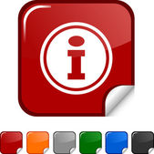 Info icon. — Stock Vector