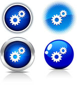Settings buttons. — Stock Vector