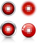 Cpu 按钮. — 图库矢量图片