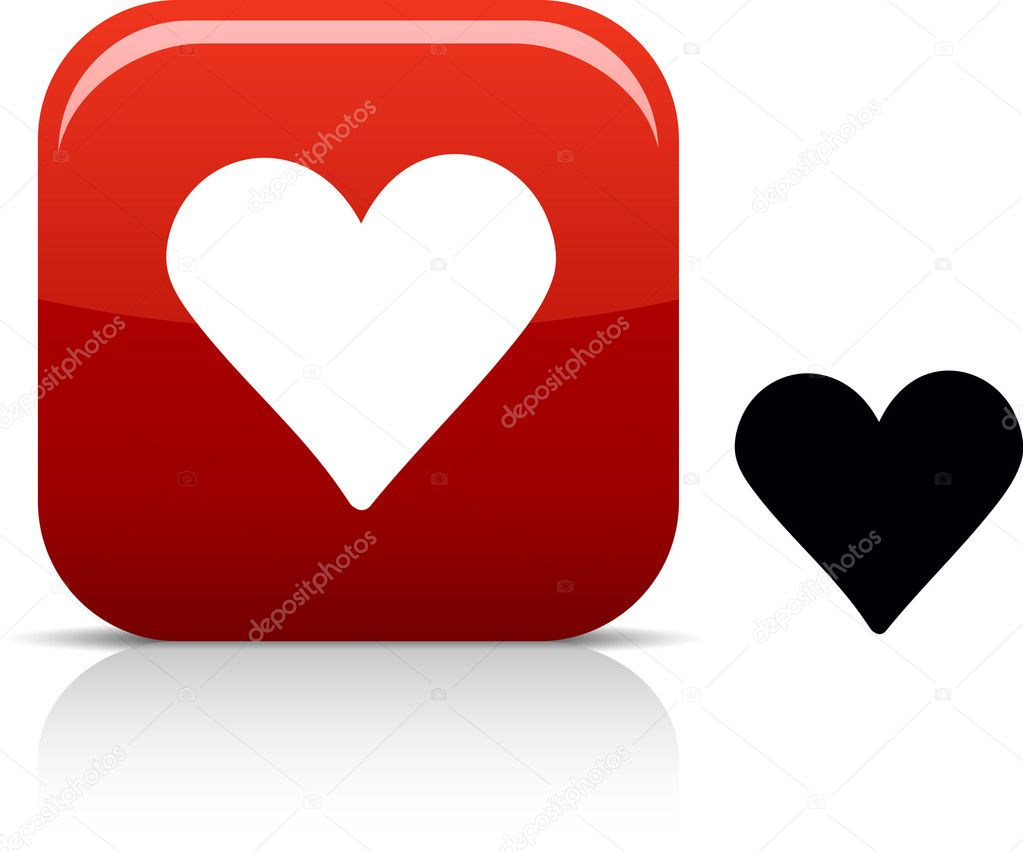 . Love beautiful icon. Vector illustration. .  Stock Vector #5316386