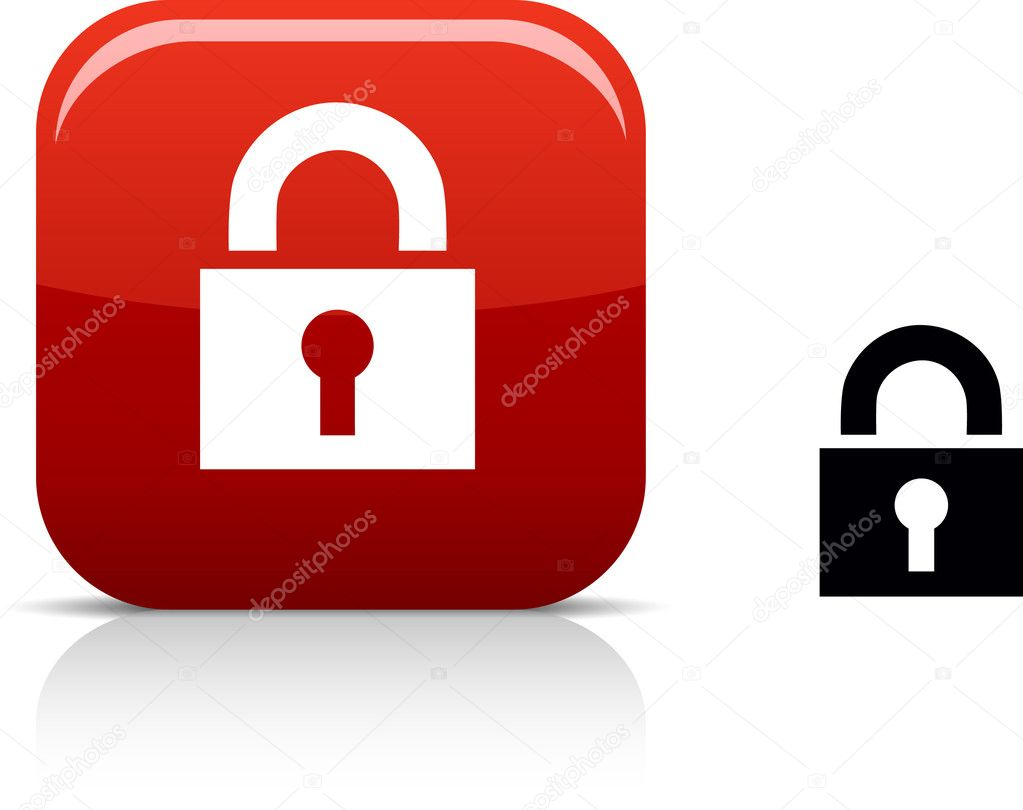 .  Padlock beautiful icon. Vector illustration. . — Stock Vector #5316423