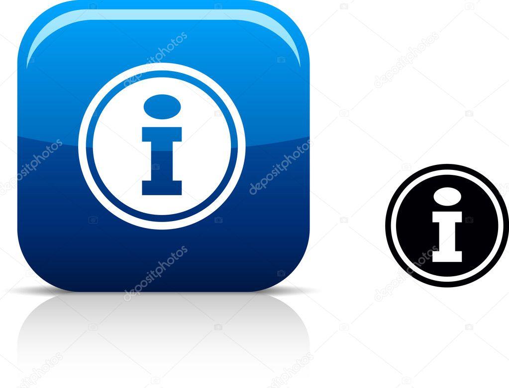 Info icon. — Stock Vector © Maxborovkov #5316480