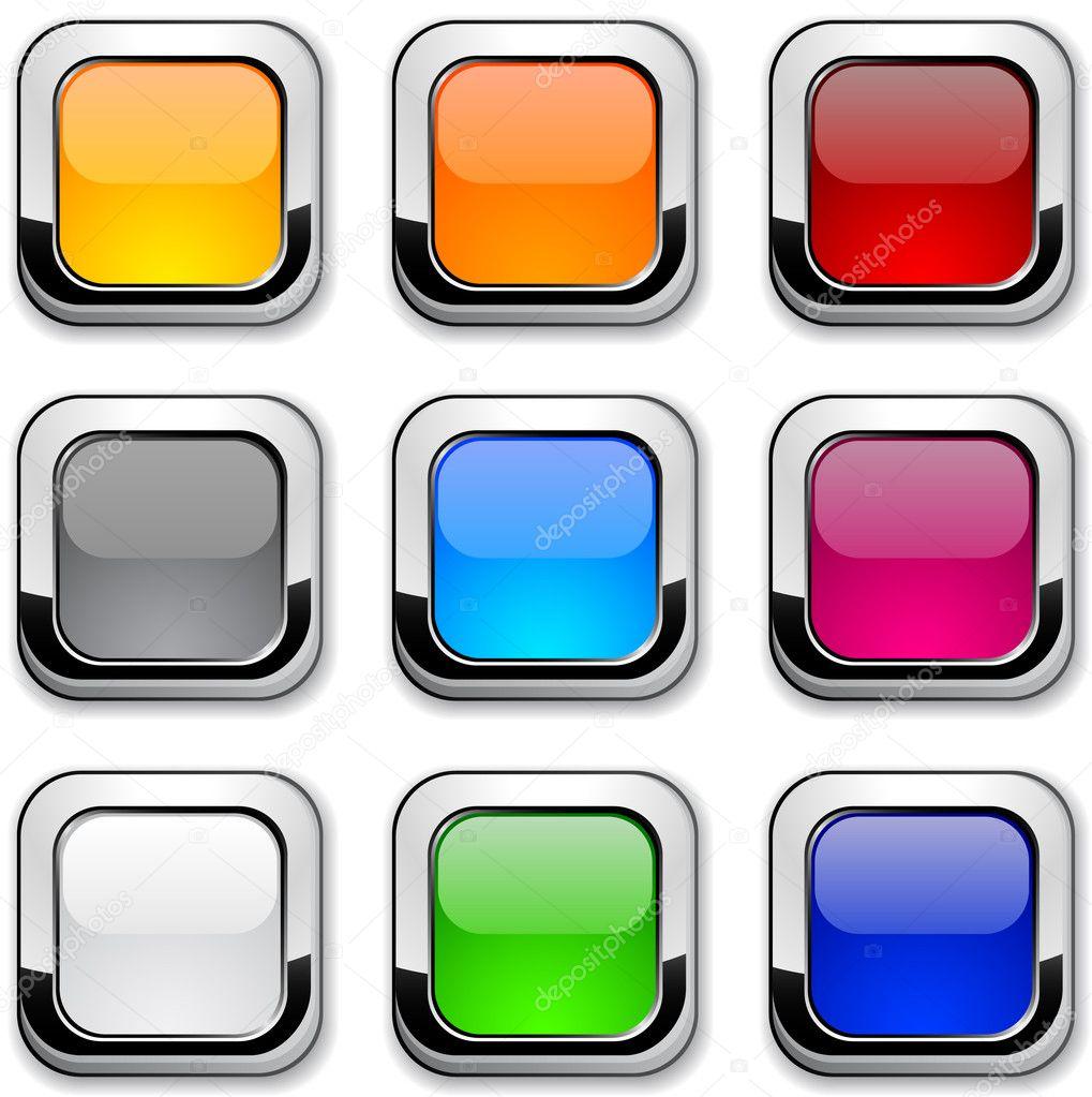 Glossy buttons. — Stock Vector © Maxborovkov #5316658
