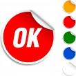 Stock Vector: Ok icon.