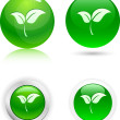 Leaf icons. - Stock Vector
