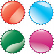Stock Vector: Color lids