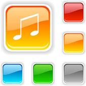 Music button. — Stock Vector