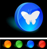 Butterfly Icon. — Stock Vector