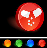 Pill Icon. — Vector de stock