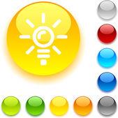 Bulb button. — Stock Vector