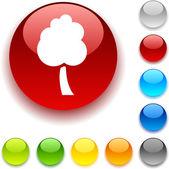 Tree button. — Stock Vector