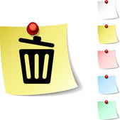 Recycle bin icon. — Vector de stock