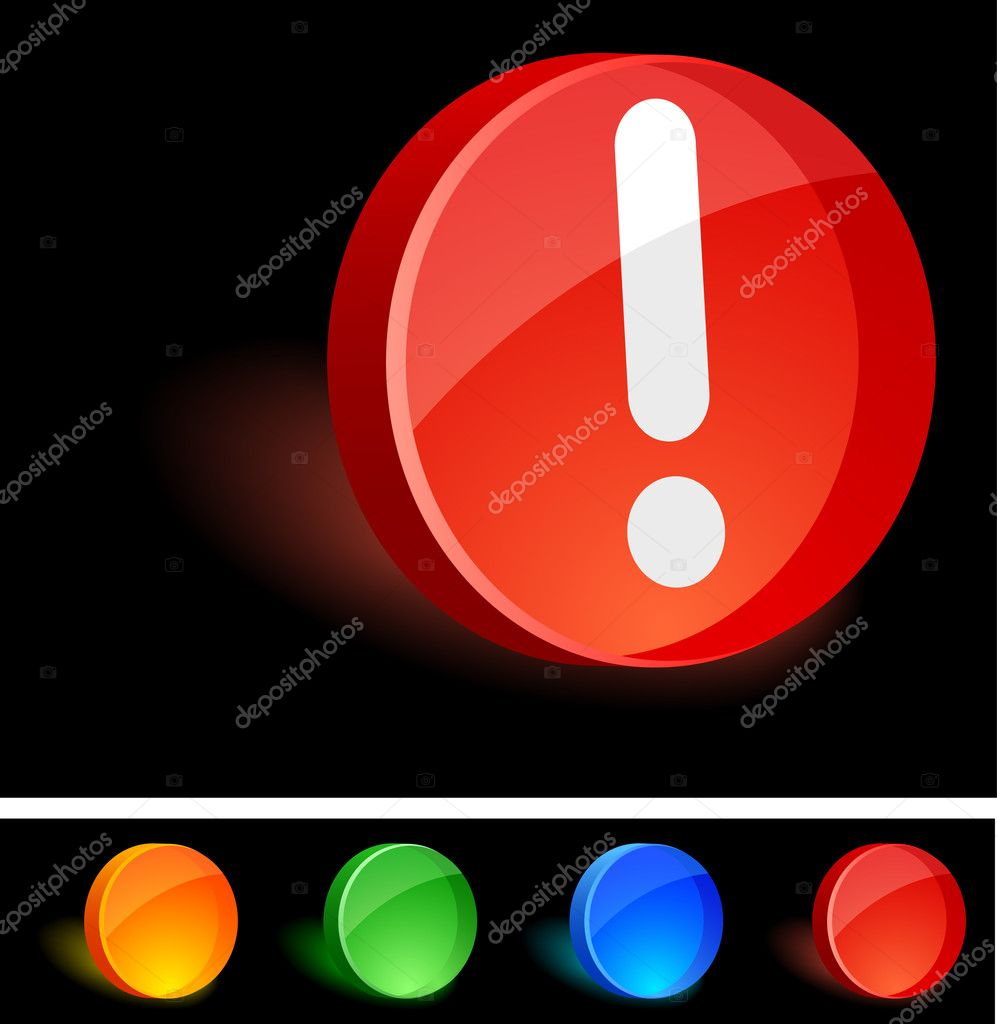 Attention 3d icon. Vector illustration. — Stock Vector #5325610