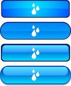 Rain button set. — Stock Vector