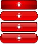 Cpu button set. — Stock Vector