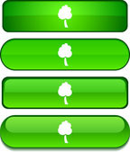 Tree button set. — Stock Vector