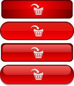 Buttonset kaufen. — Stockvektor