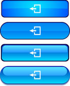Exit button set. — Stock Vector
