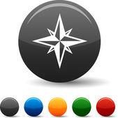 Kompas ikon. — Stock vektor