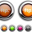 FTP button. — Stock Vector