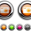 Photo button. - Stock Vector