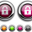 Padlock button. — Stock Vector