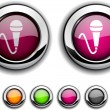 Mic button. — Stock Vector #5363852