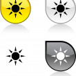 Sun button. — Stock Vector